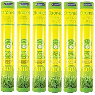 Absab Ltd 6 x Chatsworth Citronella Incense Sticks 40 pack For outdoor use Holder Included