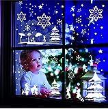 Livingstyle & Wanddesign Wandtattoo und Fensterdekoration Wintermärchen (rot 31)