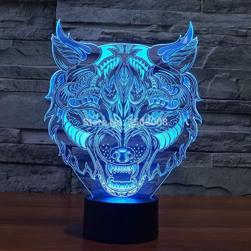 3D-Nachtlicht Led Farbwechsel Licht Innovative Leopard Print 7 Farbe Tischlampen Geben Freunden Jubiläumsgeschenke