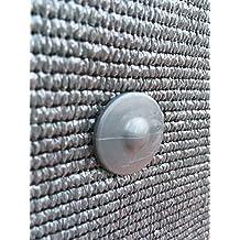 30 clips de fijación GRIPNET, con tratamiento anti-UV para malla de ocultación sobre paneles de rejilla (varilla de 5 mm de diámetro)