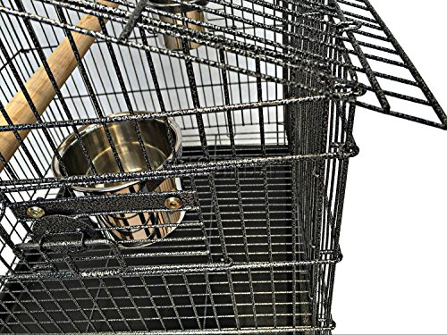 FoxHunter Large Metal Bird Cage Stand For Parrot Macaw Budgie Canary Finch Cockatiel Aviary Lovebird Parakeet With Wheel… 5