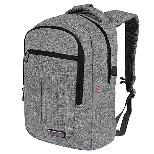 NPET mochila para portátiles antirrobo impermeable mochila para hombre de  negocios viaje escuela gris gris 3f3b5c4cbd8