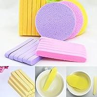 12 spugne per la pulizia del viso e del trucco, barrette compresse, antibatteriche, spugne di bellezza, applicatore per…