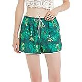 Sunday Rose Women's Swim Shorts Floral Board Shorts with Adjustable Drawstring