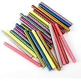 30x Bâton de Colle Thermofusible 7x7x100mm multicolore poudré pailleté