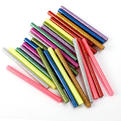 30x-baton-de-colle-thermofusible-7x7x100mm-multicolore-poudre-paillete