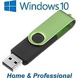 Unleashed-Shop-Bolt Microsoft Windows 10 Home & Pro Professional USB Stick bootfähig 32 Bit / 64 Bit - Vollversion - OHNE Lizenzkey - DEUTSCH