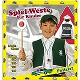 Polizei Weste Kinder Grün Gr. 128