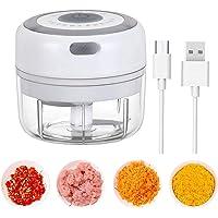 LUOWAN Hachoir Électrique,100ML Presse-ail Électrique sans Fil Robot Culinaire Portable avec 2 Lames Tranchantes Hachoir…