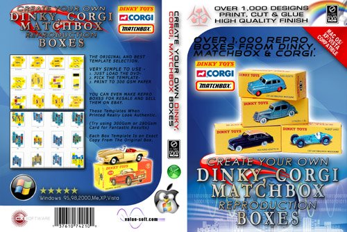 Image of CREATE YOUR OWN DINKY / MATCHBOX / CORGI REPRO BOXES [dvdr]