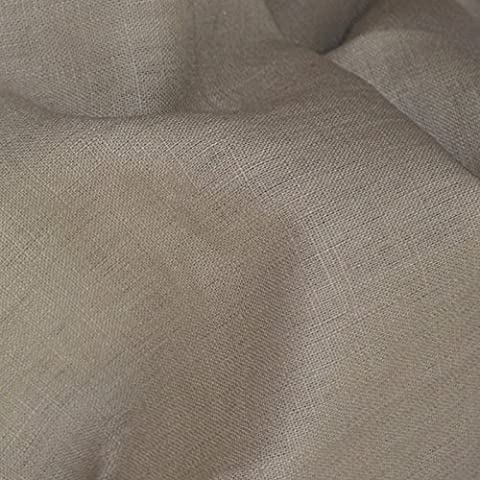 Tela de lino - piedra - 100% lino suave | ancho: 137cm (1 metro)