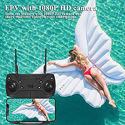EACHINE E511 Drone with 1080P HD Camera for Adults WIFI FPV Live Video Drone, Altitude Hold Foldable Quadcopter with Wide Angle Camera, Long Flying Time Selfie Drone , 360° Rolling for Beginners
