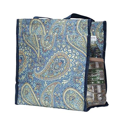 Signore/ragazze Shopping Bag a tracolla in tela Mattina Giardino Design Paisley
