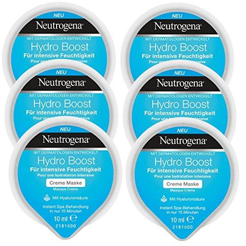 Neutrogena Hydro Boost Creme Maske - Creme Maske mit Hyaluronsäure für intensive Feuchtigkeit - 6...