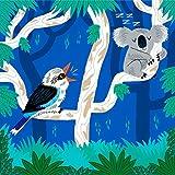 Der Koala und die Kookaburra - Kunst Poster drucken by Oliver Lake