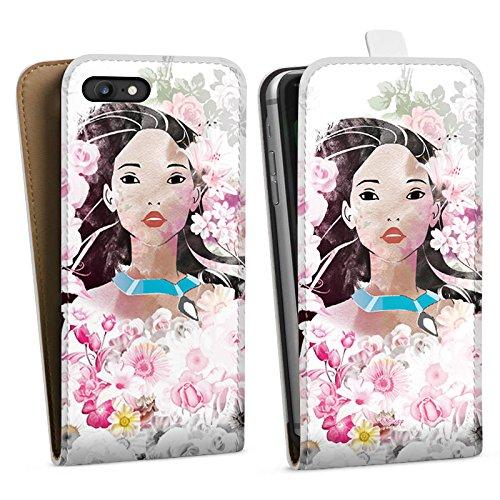 Apple iPhone X Silikon Hülle Case Schutzhülle Disney Pocahontas Geschenke Fanartikel Downflip Tasche weiß