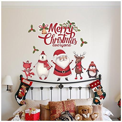 Adesivi Murali Natale.Rn00070 Adesivi Murali Personaggi Di Natale Vetrofanie