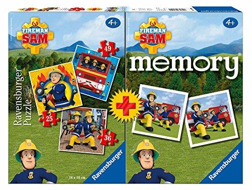 feuerwehrmann sam brettspiel Ravensburger Multipack Memory + 3 Puzzles, Sam der Feuerwehrmann (06910)