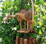 Münster 1949Extra Groß Wackelkopf Animal Bambus Wind Chimes–Drachen, Vögel, Eulen