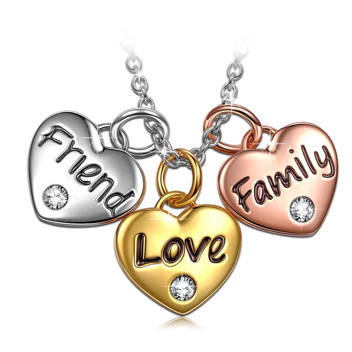 Mom Mum Girlfriend Charm gift box 925 Silver Love Heart Valentines Day wife