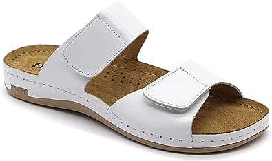 LEON 952 Sandali Zoccoli Sabot Pantofole Scarpe Pelle Donna