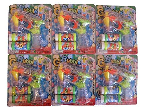 6x Set Seifenblasenpistole mit LED u. Sound Seifenblasenmaschine Bubble Gun Seifenblasen