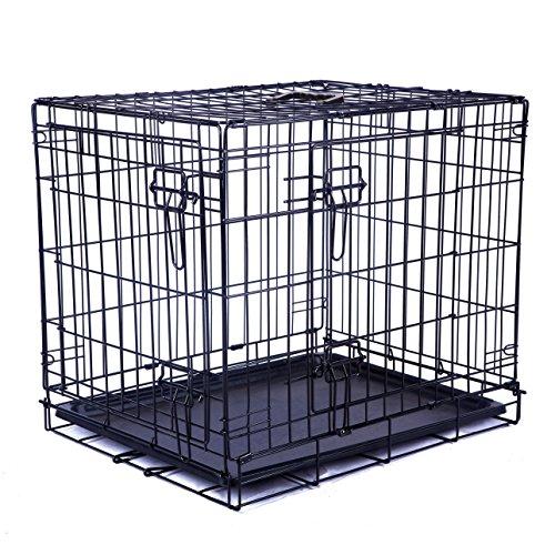 mpets Käfig faltbar 2Türen für Hunde, Größe M
