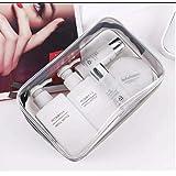AERINA Clear PVC Cosmetic Bags Travel Toiletry Bag Waterproof Zipper Packing Cubes Organizer