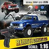 RC Auto, Geländewagen High Speed 4WD1: 16 Fernbedienung 2.4GHz Elektro Buggy,Blue