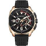 MEGIR Men Army Sport Watches 2020 New Chronograph Quartz Watch Man Fashion Waterproof Luminous Silicone Band Wristwatch Male