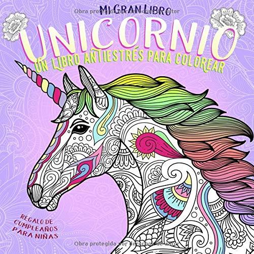Mi Gran Libro Unicornio. Un libro antiestrés para colorear. Regalo de cumpleaños para niñas: Cosas de unicornios baratas. Es súper mono! (Libros para Colorear para Infantil, Joven y Adultos, Band 1) Gelee Fiesta