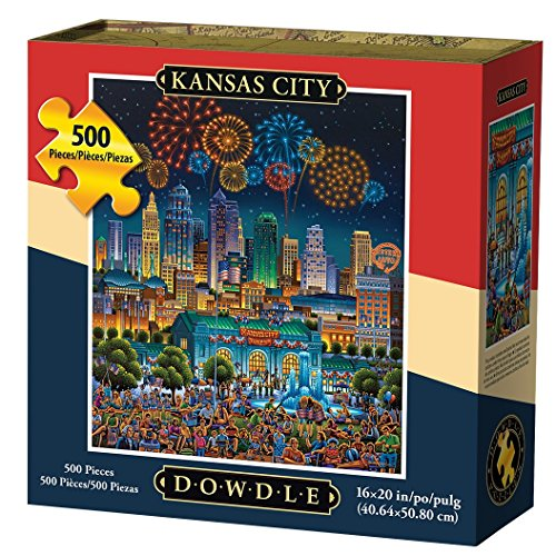 Jigsaw Puzzle - Kansas City 500 Pc By Dowdle Folk Art by Dowdle Folk Art