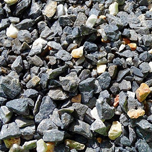 MGS SHOP Zierkies Marmorkies Gebrochen Marmor Splitt - Farbe Wählbar (Vulkano-Schwarz 950g)
