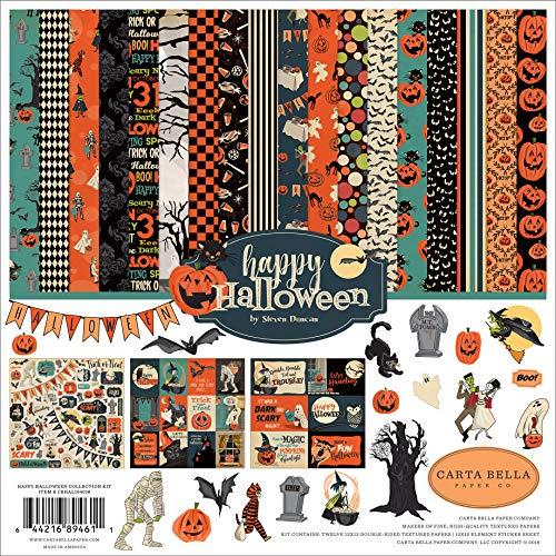 Carta Bella Paper Company CBHAL104016 Happy Halloween Collection, Papier, Orange, Schwarz, Blau, Marineblau