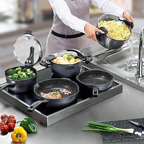 Stoneline bater a de cocina antiadherente apta para - Baterias de cocina para induccion ...