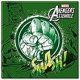 Adolescentes Marvel Avengers Assemble Servilletas De Papel (20unidades), diseño de con, diseño de Hulk
