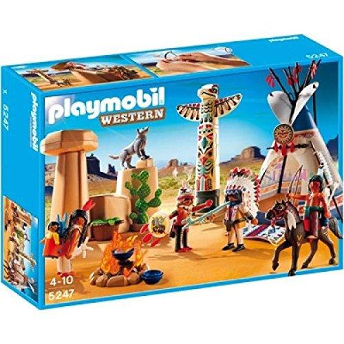 Playmobil - Campamento Indio con tótem, Set de Juego...