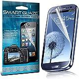 Crystal Clear Premium-LCD-Display-Schutzfolien-Packs mit Poliertuch & Application-Karte für Samsung Galaxy S3 i9300 Pack Of 3 Von Smart Glaze®