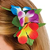 Hawaii Flower Hair Clip MULTI Outfit Accessory for Tropical Fancy Dress