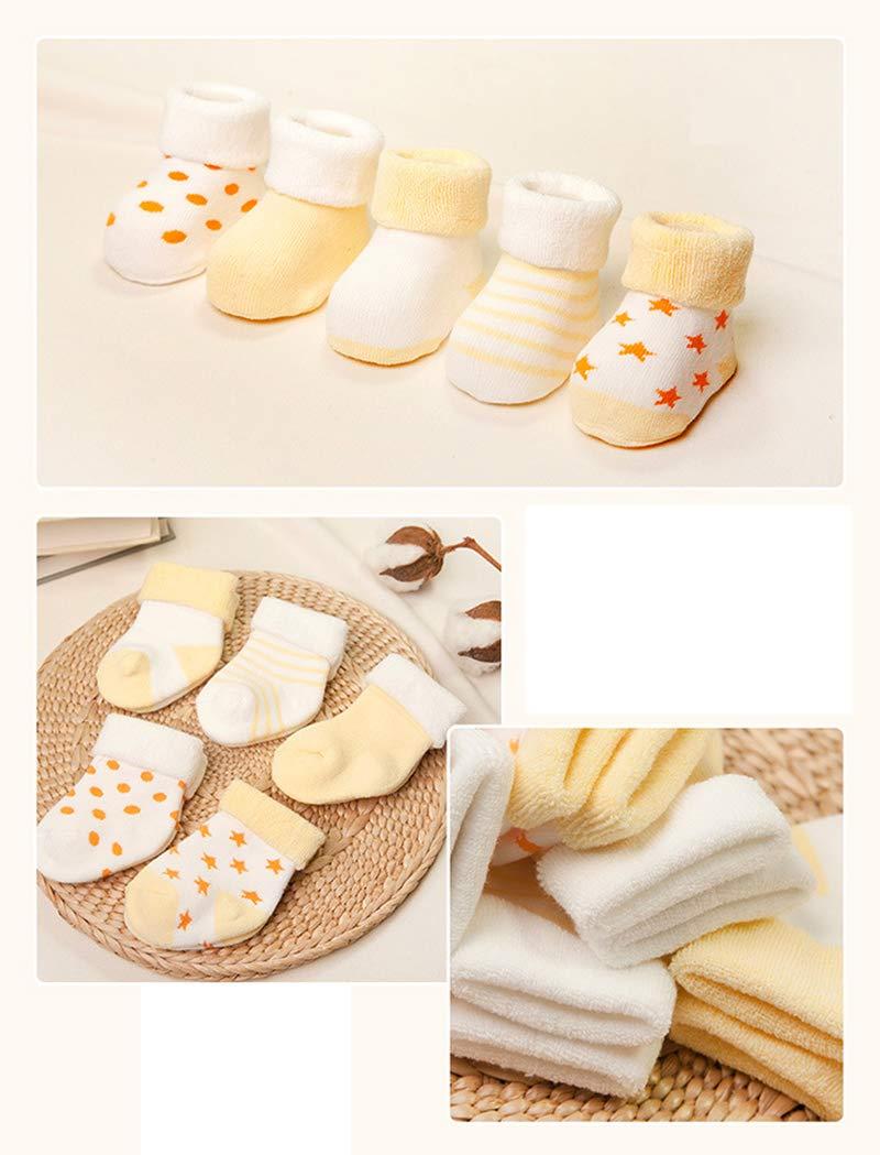 Z-Chen Pack de 5 Pares de Calcetines Bebé Niño Niña Algodón 3