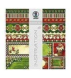 Ursus 703000218 - Premium Glitter Scrapbook paper Happy Christmas, ca. 30,5 x 30,5 cm, 5 Blatt, Motiv 218