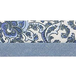 Hausse de ceinture motif baroque 45 mm Bleu Jean x 10cm
