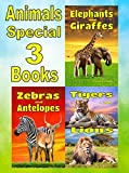 Children's Books: Animals Special 3 Books: Elephants and Giraffes, Zebras and Antelopes, Tigers and Lions: Facts, Information and Beautiful Pictures! (FREE VIDEO AUDIO BOOK INCLUDED)