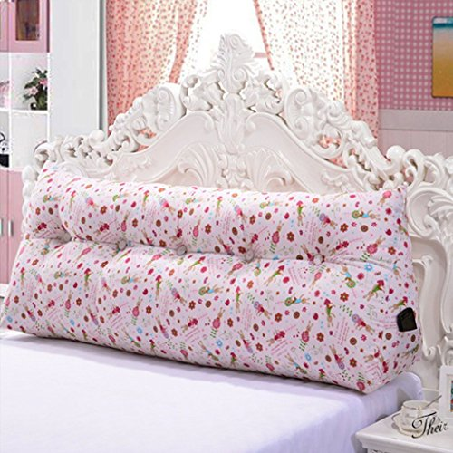 Rückenlehne Dreieck-Taillenkissen Kissen Großes dreieckiges weiches Paket Bett großes Kissen Gemütlich Leinwand Stoff ( Color : E , Size : 120CM ) (Leinwand 120 Gebogene)