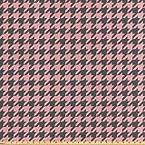 ABAKUHAUS Rosa Palido Tela por Metro, Pastel Pata De Gallo, Satén para Textiles del Hogar y Manualidades, 1M (160x100cm), Rosa Pálido Gris Carbón