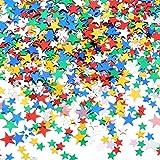 60 g Stella Confetti Coriandoli Tavolo Confetti Metallico Stelle di Lamina per Feste Matrimonio Festival Decorazioni (Multicolore, 10mm e 6mm)