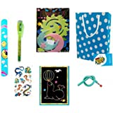 birthday popper magic combo packs with goody bag and thank you card (set of 10) for return gift for kids of all age group- Mu
