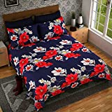 #9: Home Design cotton reversible doublebed Dohar/quilt cover with color fasting guarrenty-90x100 with zip