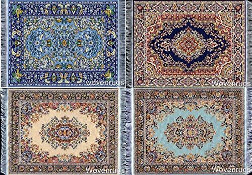 Inusitus Miniatur Puppenhausteppich Puppenhaus Teppich | Möbel Zubehör | 25cm x 17cm (Set-3) -