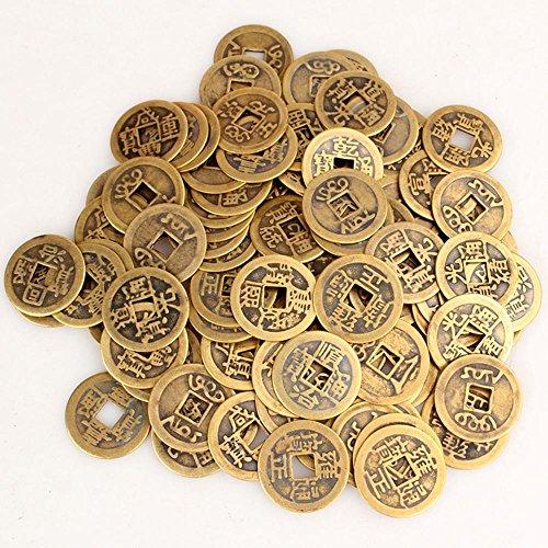 Leegoal (TM) 100Authentic Alten Chinesischen Münzen Qing-Dynastie Feng Shui Zweck Fortune Kupfer Medaille, zufällige Mischung 2.3cm/2,5cm, metall, 50pcs (Chinesische Alte Münze)